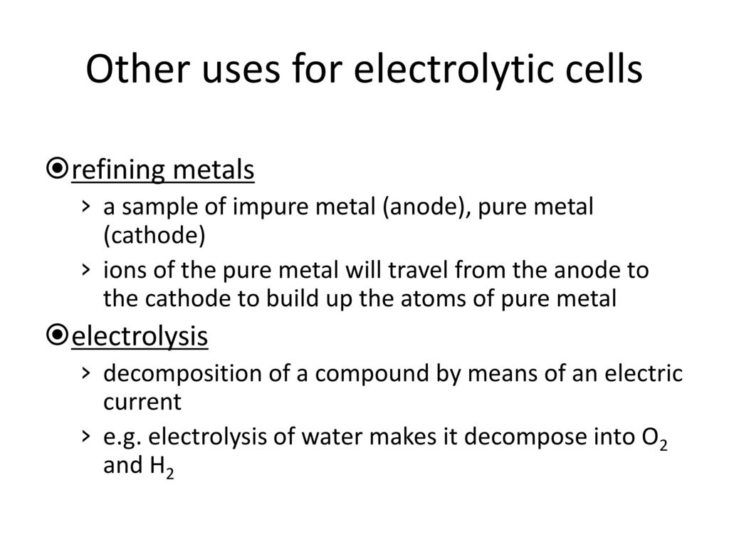 Chapter A2 A2 5 – Electrolytic Cells  - ppt download