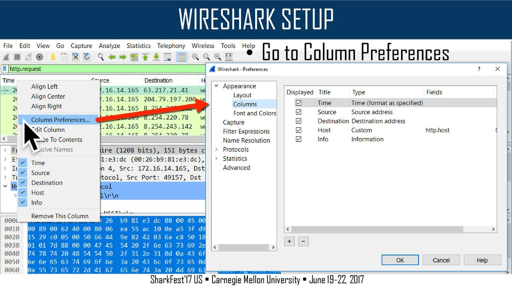 Wireshark Setup