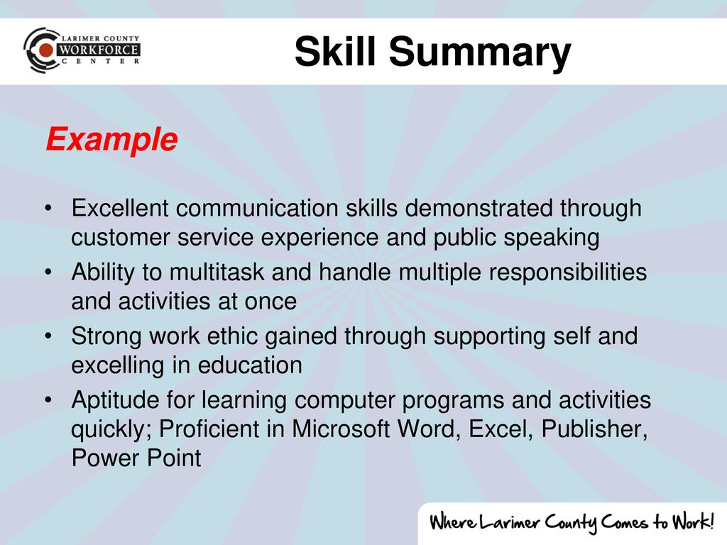 skills gained from customer service