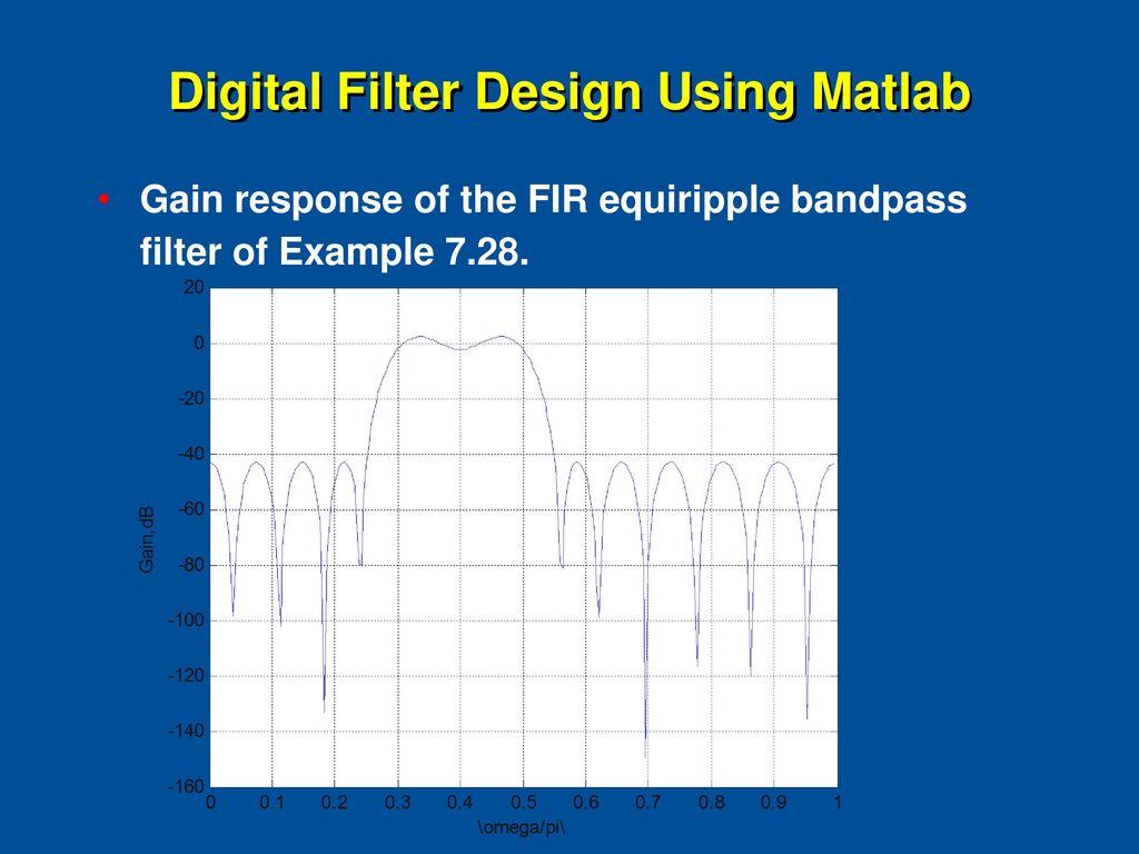 Fourier Series FIR About Digital Filter Design - ppt download