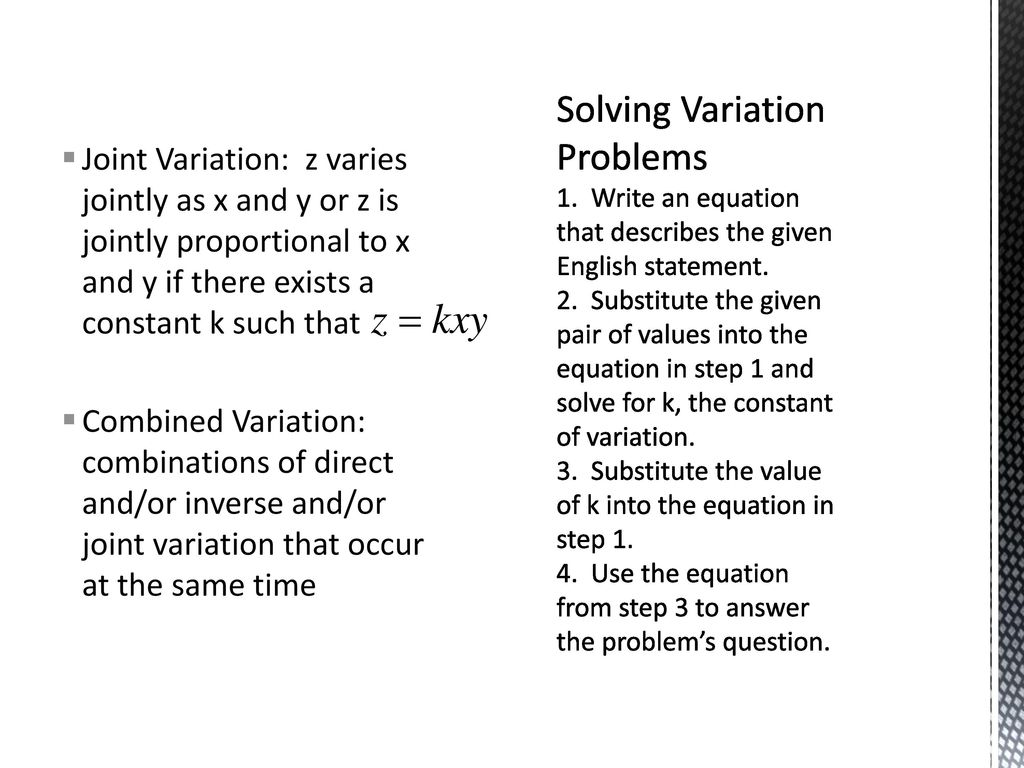 variation objectives: construct a model using direct variation - ppt