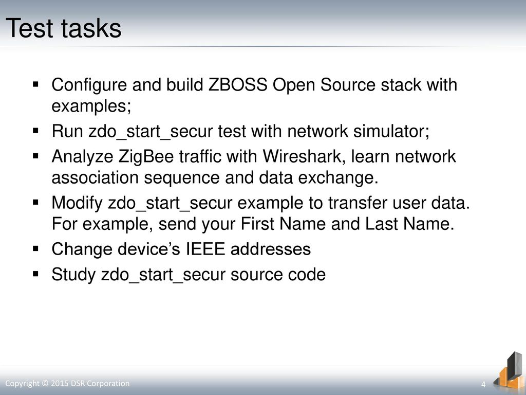 Introduction to ZBOSS Embedded Systems Software Training Center