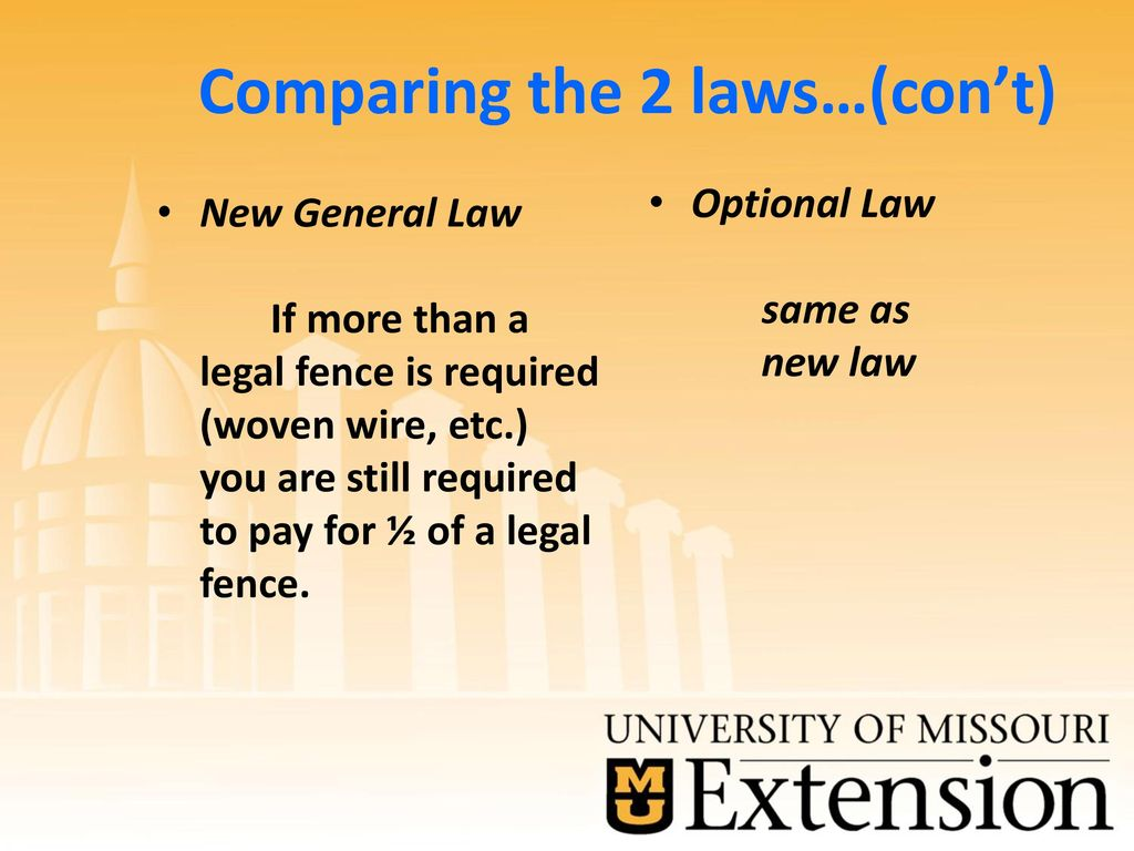 Missouri's Complex Fence Law… …what has changed this time