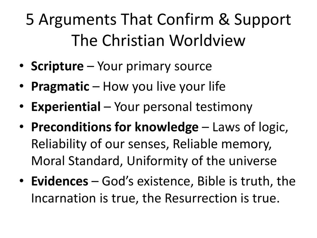 5 Arguments That Confirm & Support The Christian Worldview