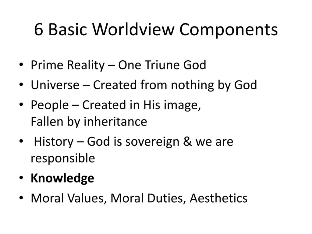 6 Basic Worldview Components