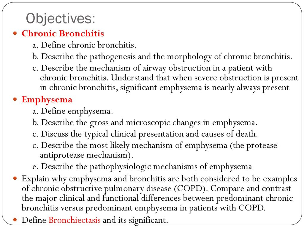 pathology of chronic obstructive airway diseases - ppt download