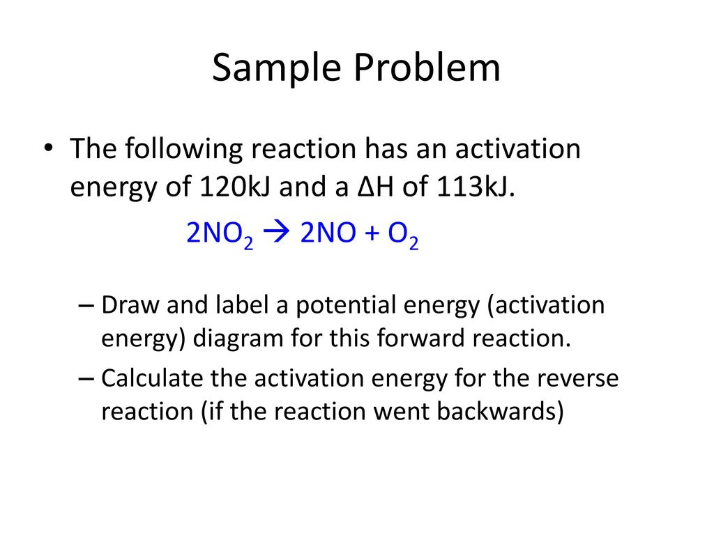 activation energy in chemical reactions