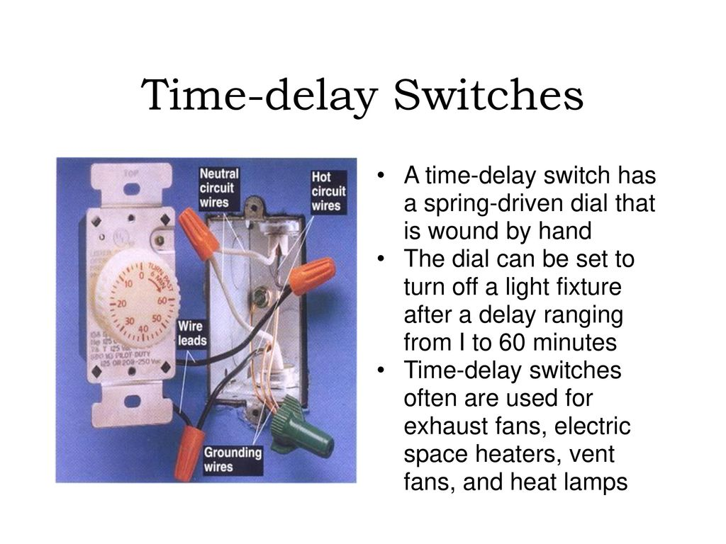 Special Purpose Electrical Switches Ppt Download Time Delay Light Switch Circuit Electronics Area 12