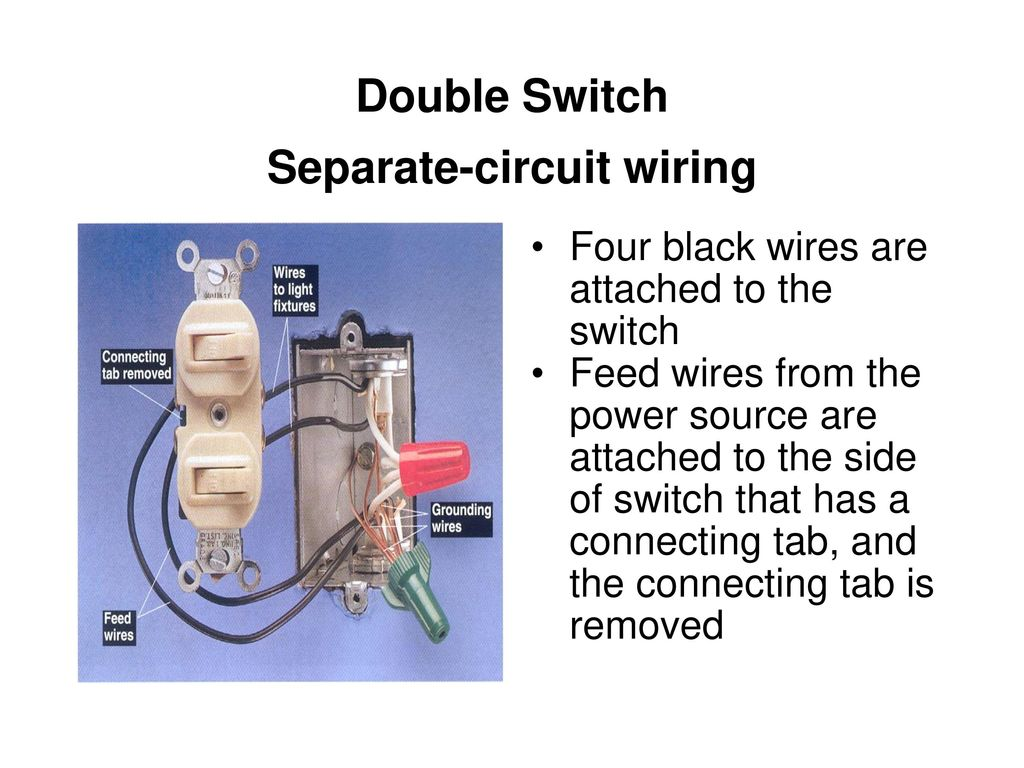 Special Purpose Electrical Switches Ppt Download Wiring A Two Switch Light 5 Double Separate Circuit