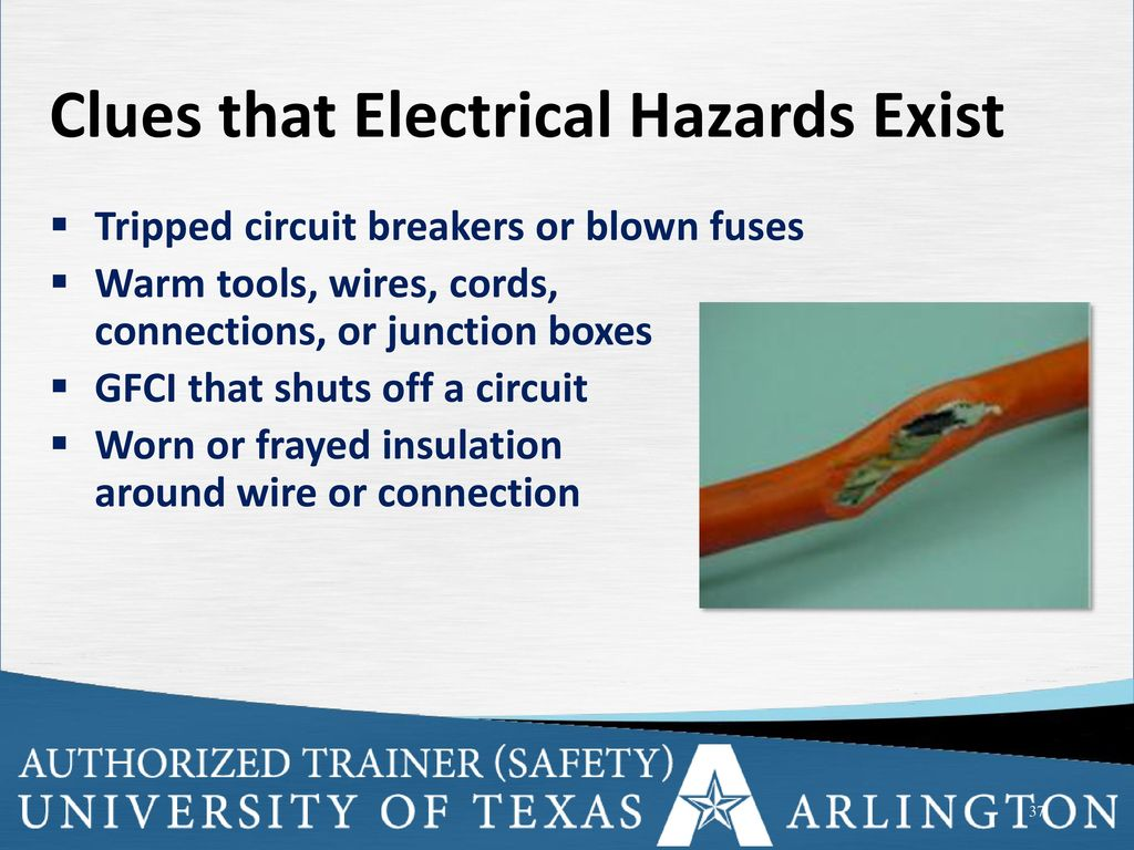 Electrical Safety Ppt Download Blown Fuse Circuit Breaker Box Clues That Hazards Exist