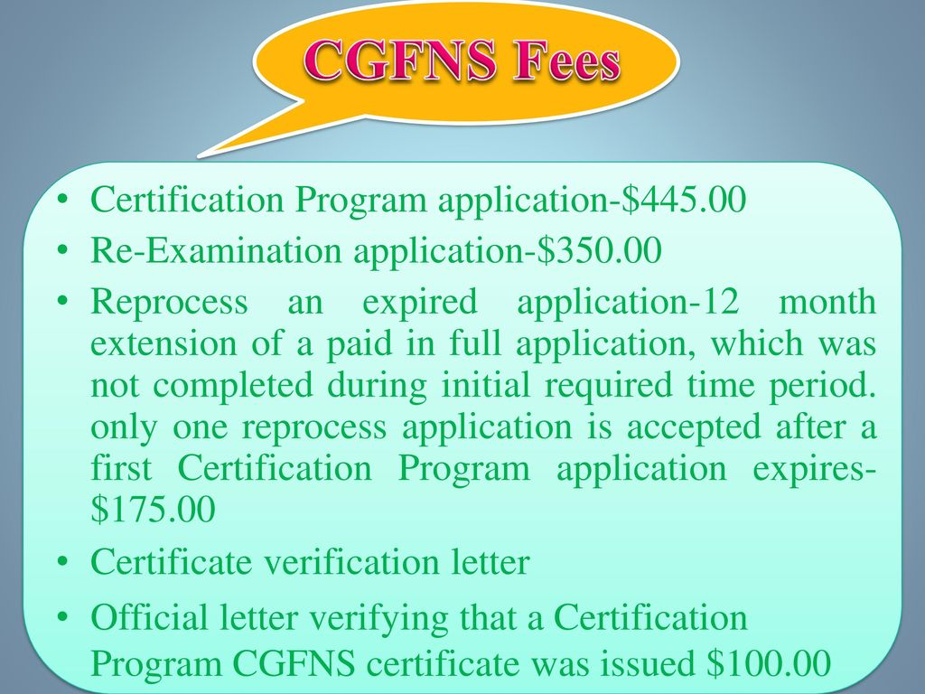Welcome To Cgfns Program Ppt Download