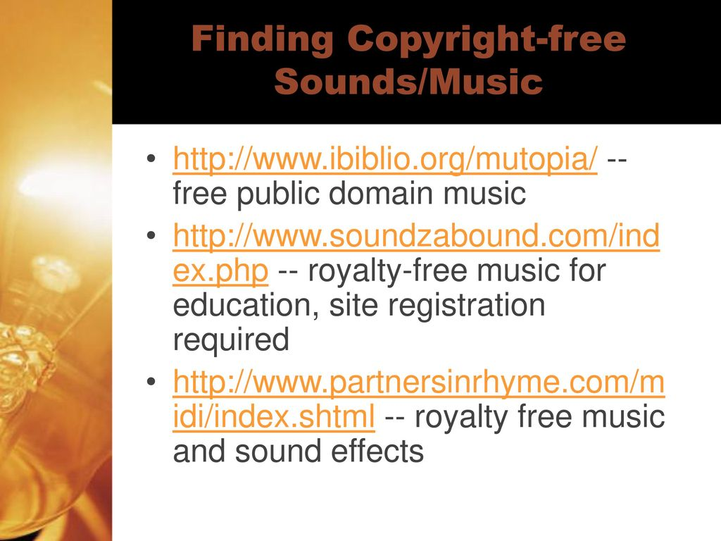 copyright free sound effects