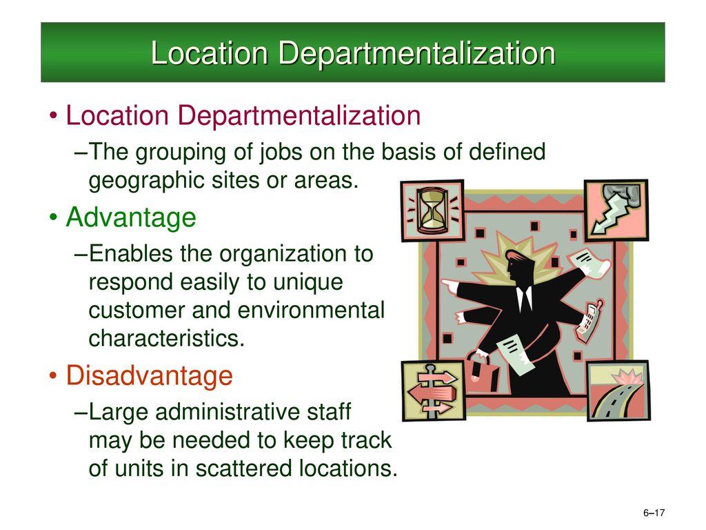 location departmentalization