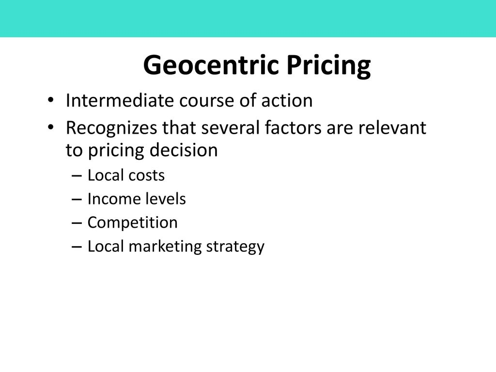 geocentric pricing strategy