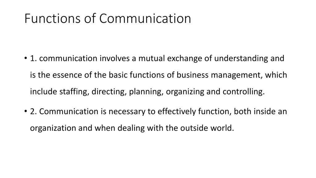 6 functions of communication