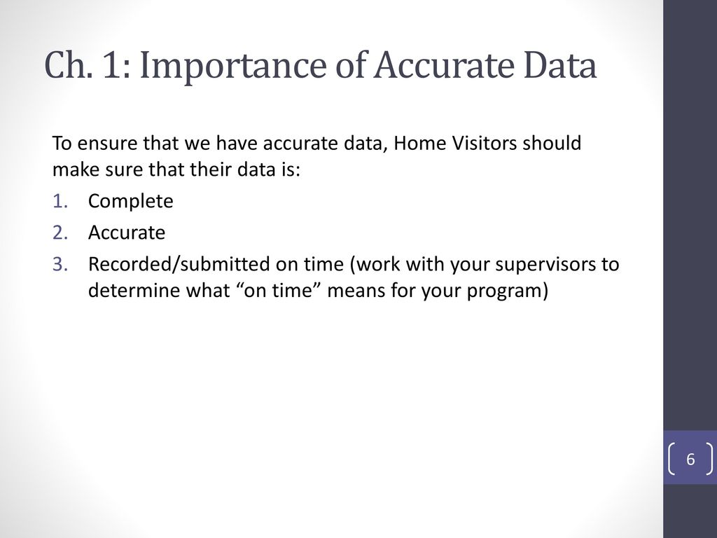 what is accurate data