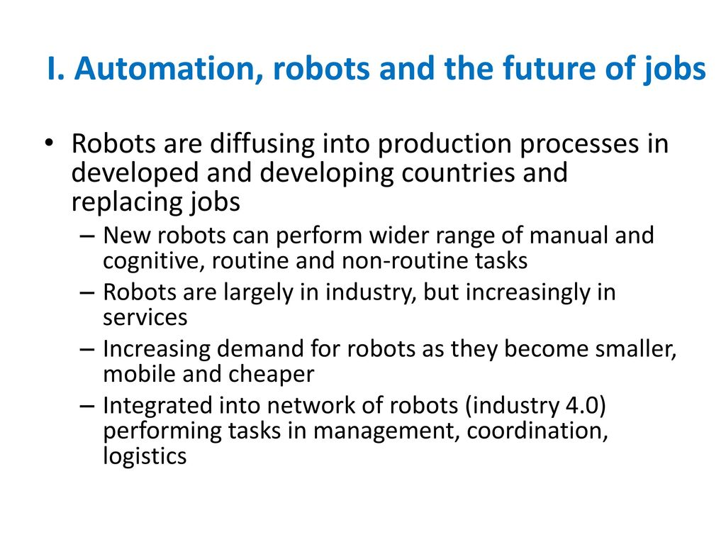 Industrial Robots and the Metamorphosis of Work Irmgard