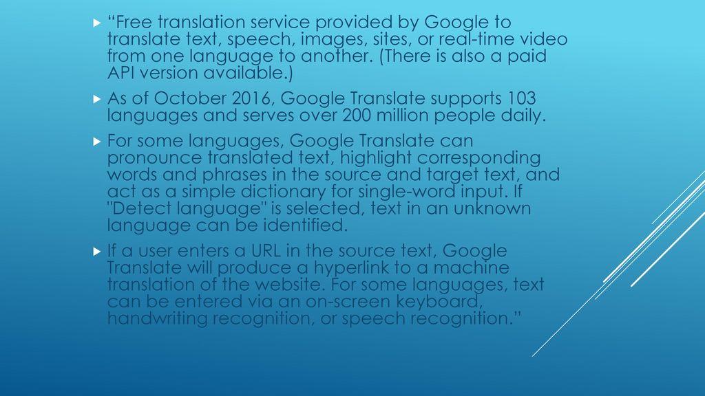 Google translate app demo - ppt download