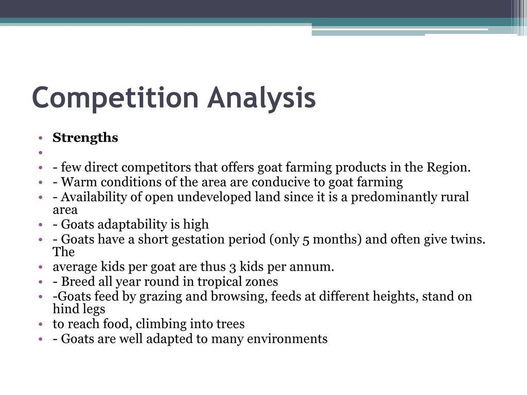 "A Feasibility Study on Goat Meat Production ""Farm to Fork Enterprise"