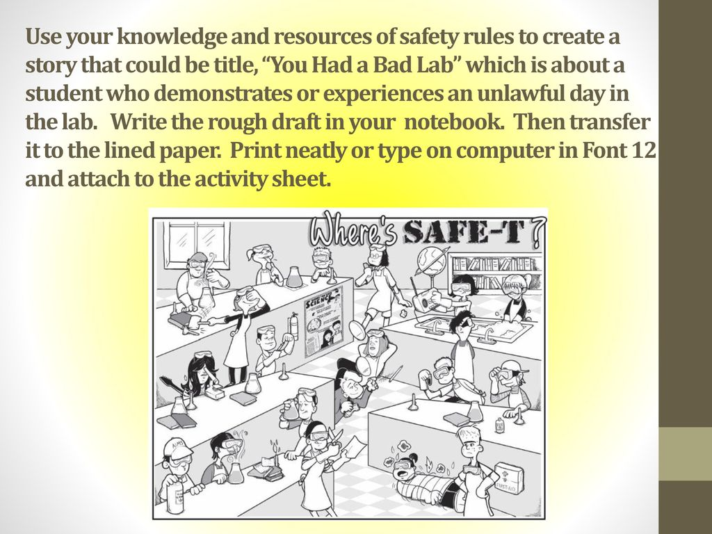 lab safety lesson a review of the importance of having and using