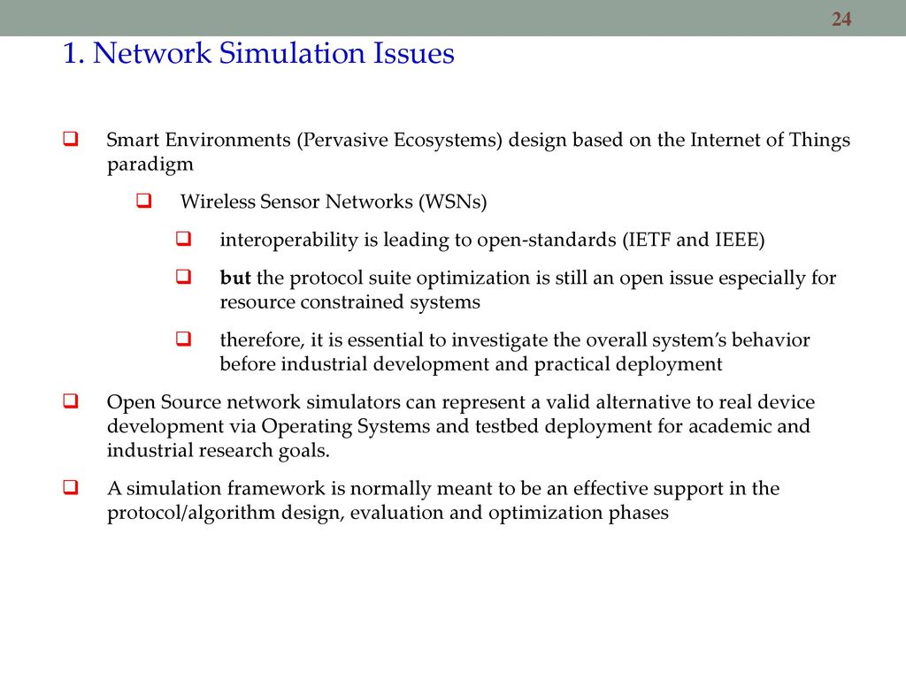 Simulating Wireless and Mobile Systems - ppt download
