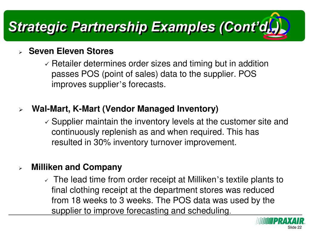 22 strategic partnership