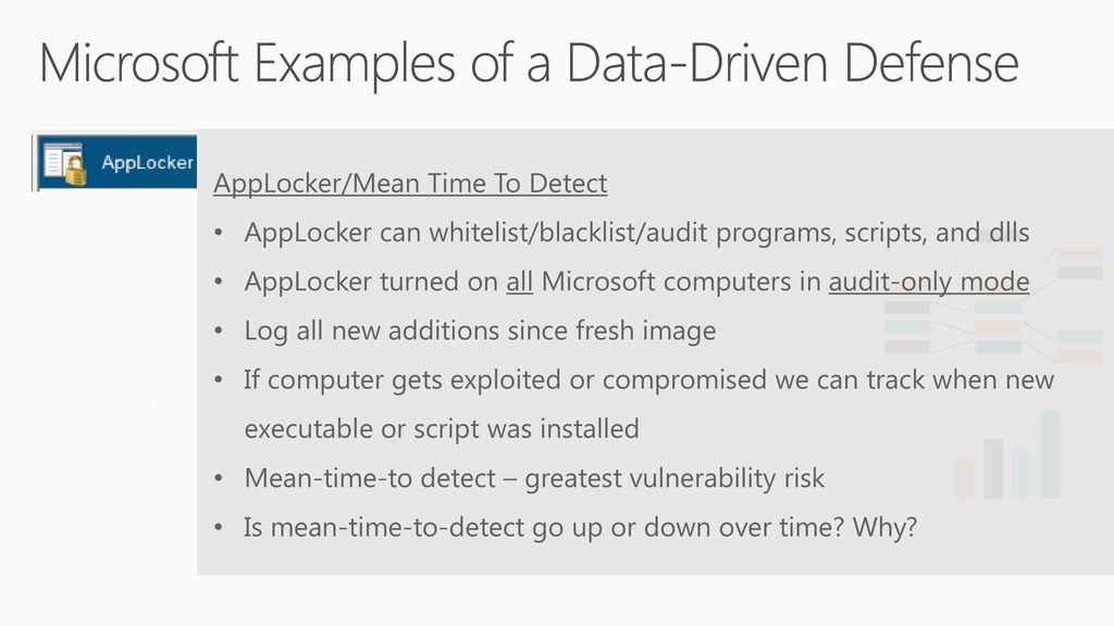 How Microsoft Uses a Data-Driven Defense - ppt download