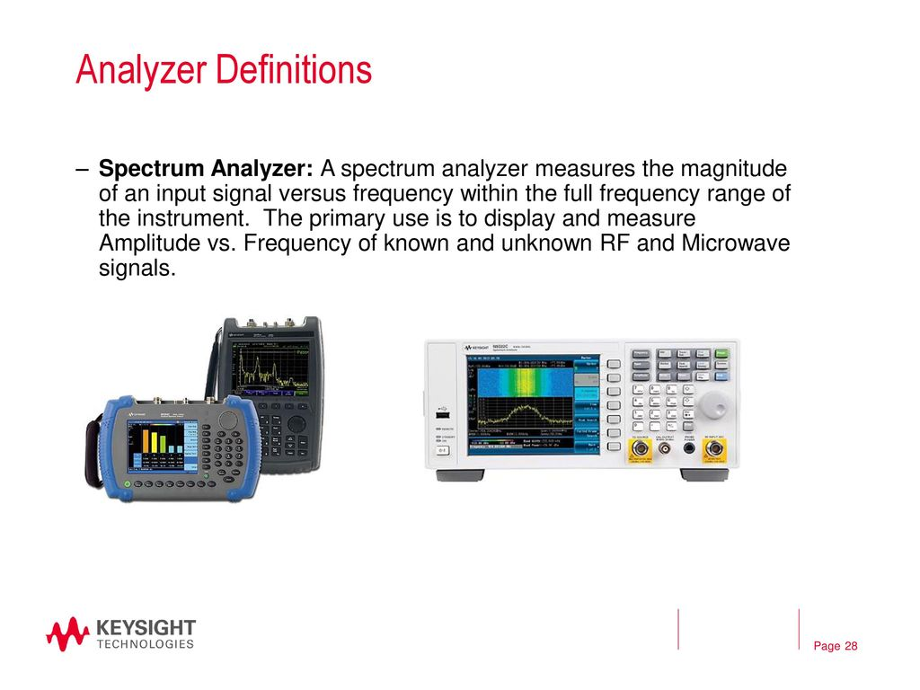 The Rf Microwave Signal Chain Ppt Download Multi Measurement Analyzer Definitions