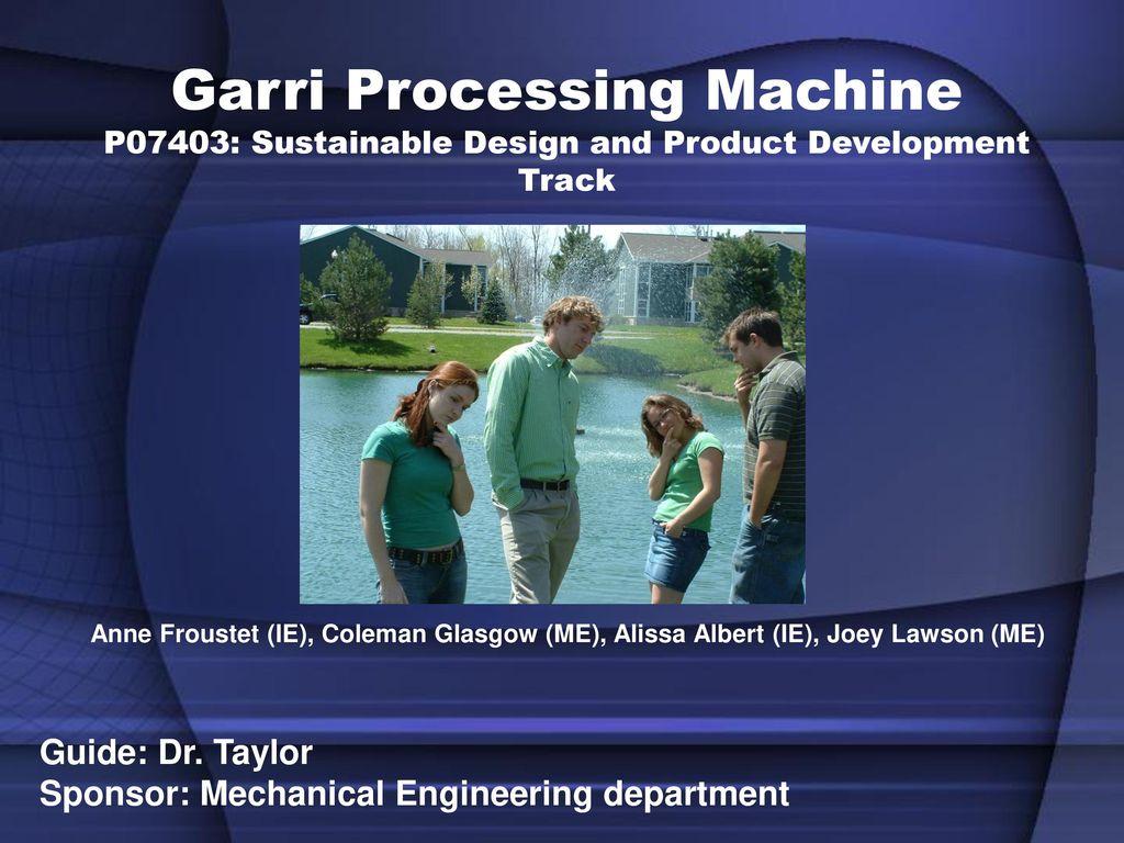 Garri Processing Machine P07403: Sustainable Design and