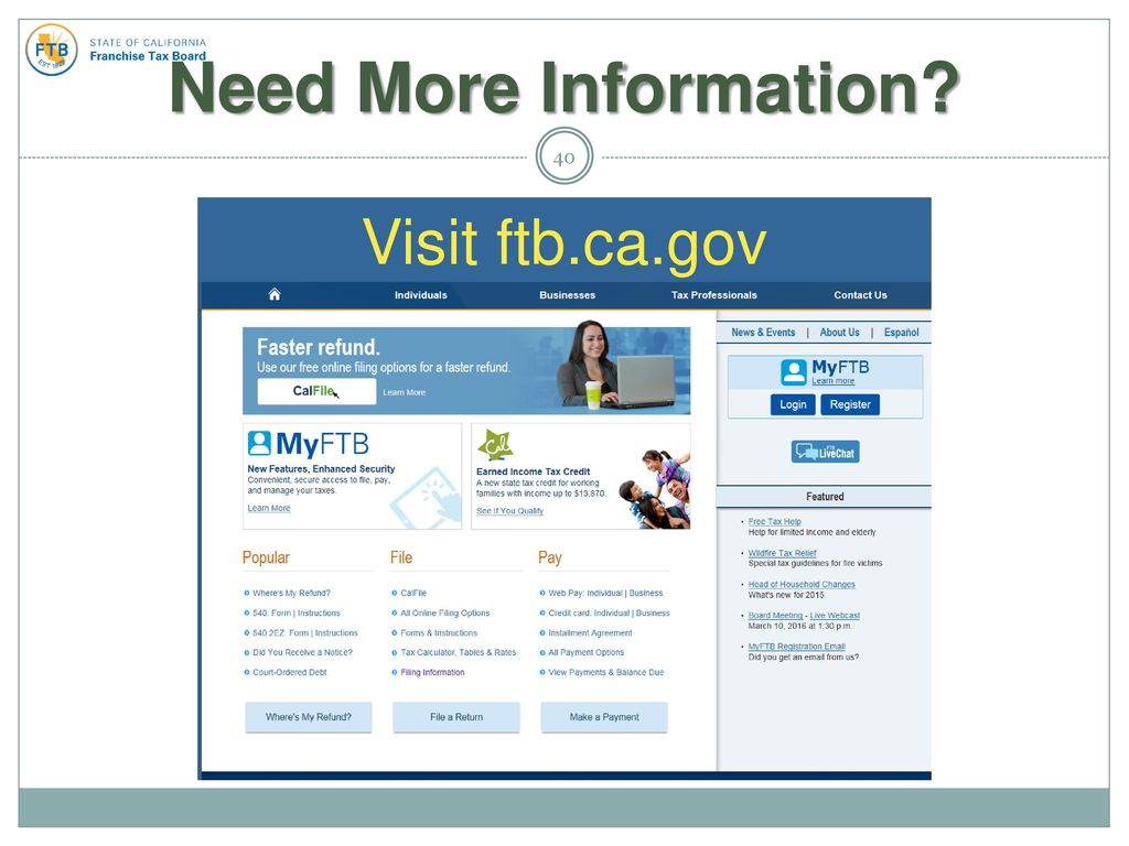 California Tax Updates Ppt Download