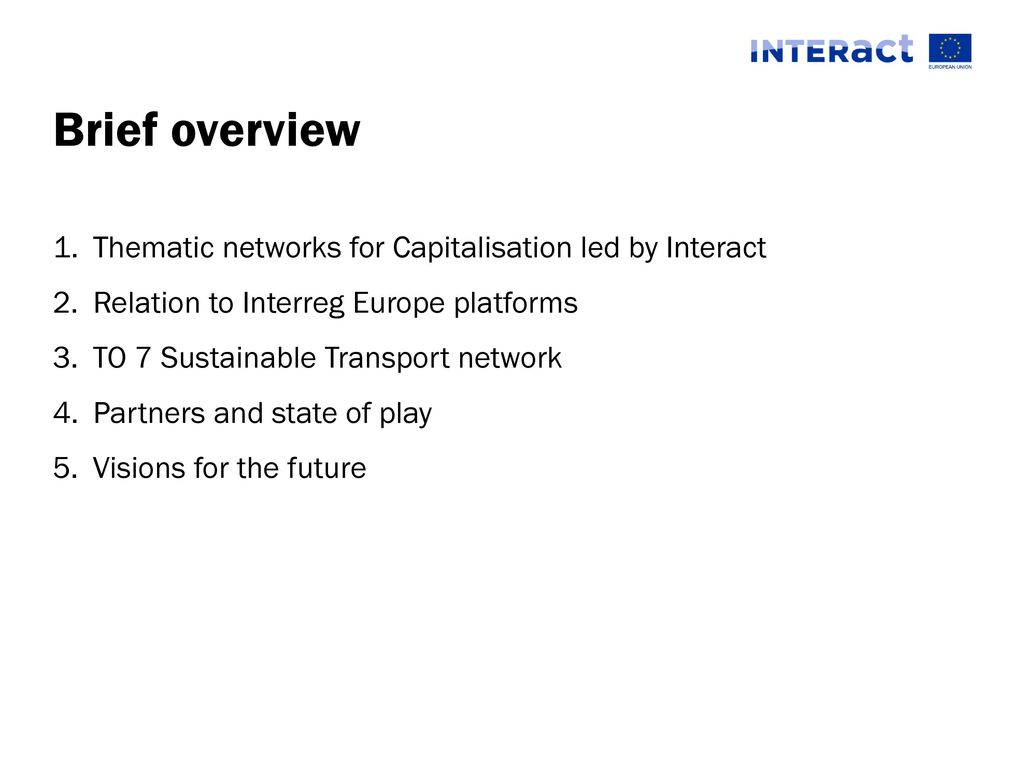 how can interreg make a difference to7 network example ppt download how can interreg make a difference to7