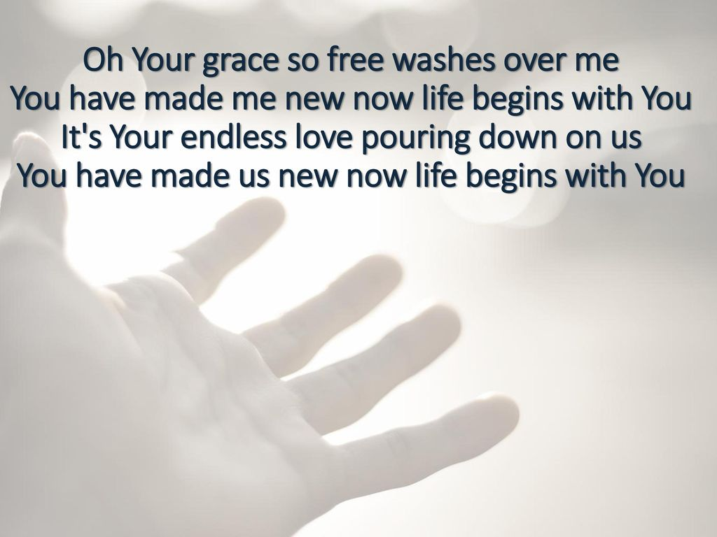 your grace so free washes over me