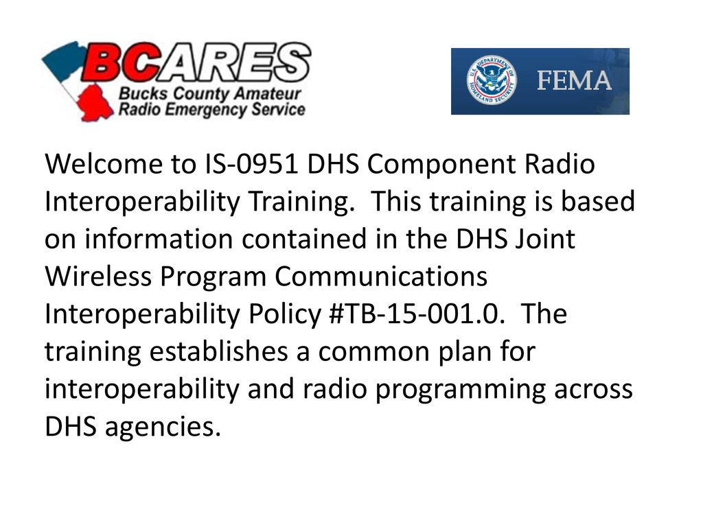 Amateur radio operators and dhs