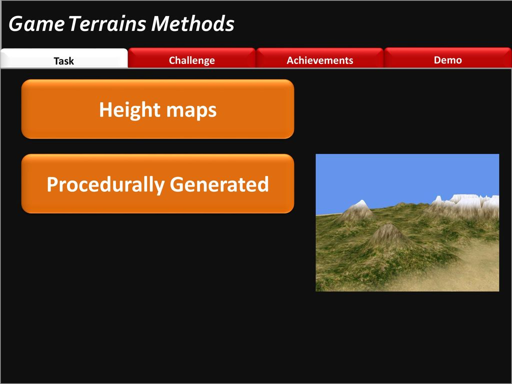 Generating Terrains via Marching Cube Algorithm for Games - ppt download