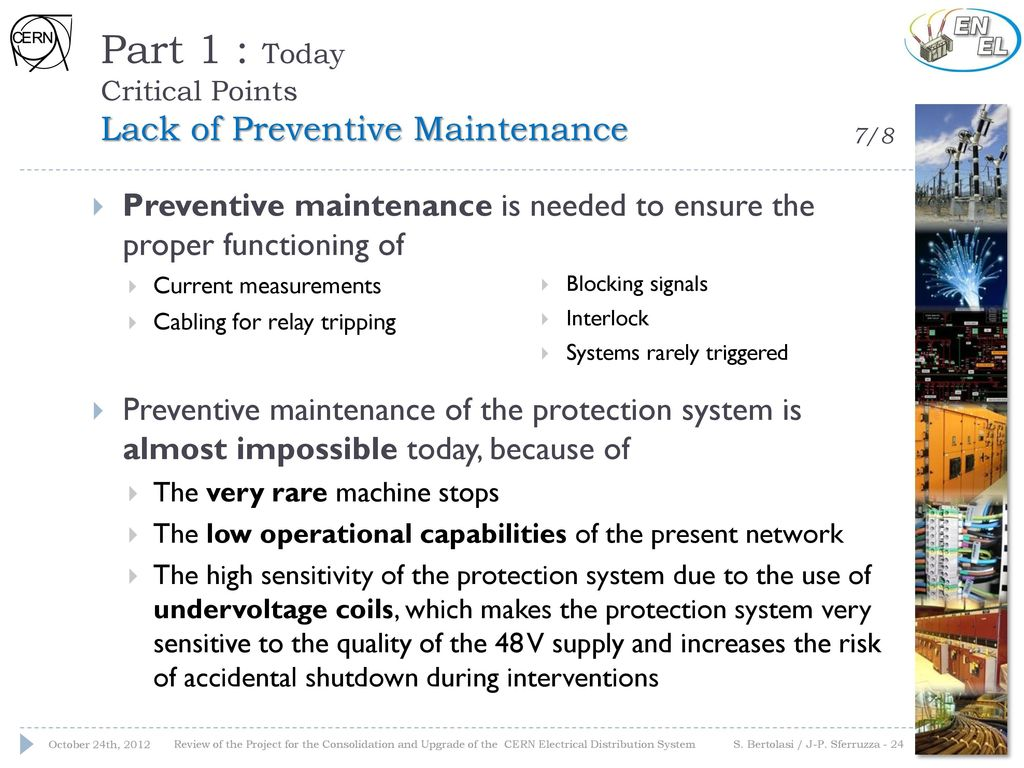 The Cern Electrical Network Protection System Ppt Download Relay Maintenance Part 1 Today Critical Points Lack Of Preventive