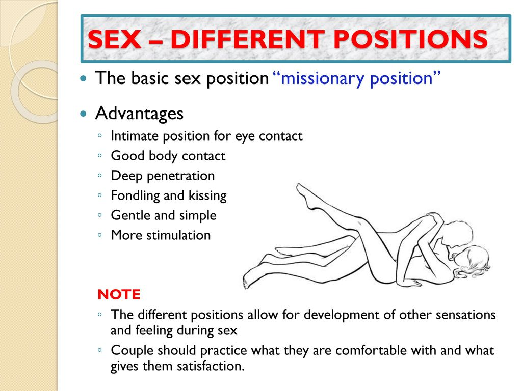 Missionary position advantages