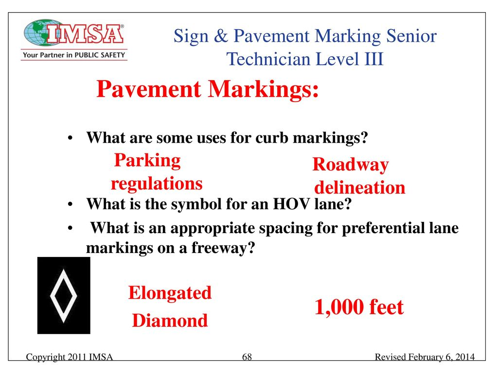 Sign Pavement Marking Senior Technician Level Iii Ppt Download