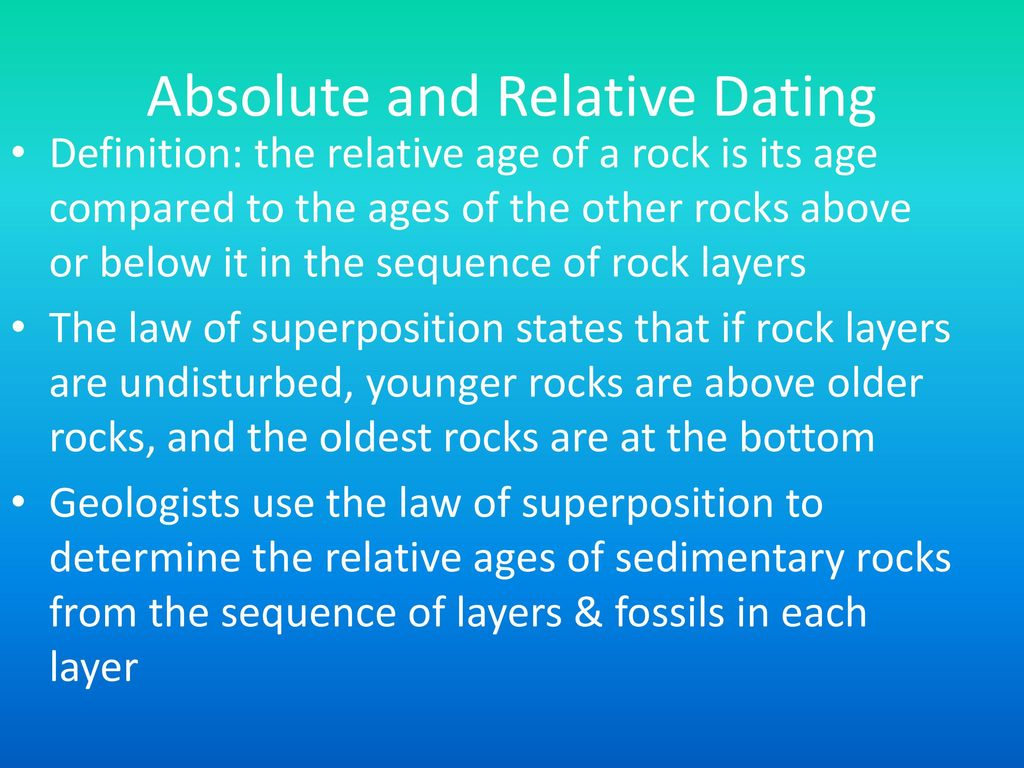 Basic definition of relative dating
