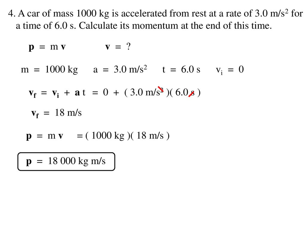 Impulse Momentum Problems Answers - ppt download