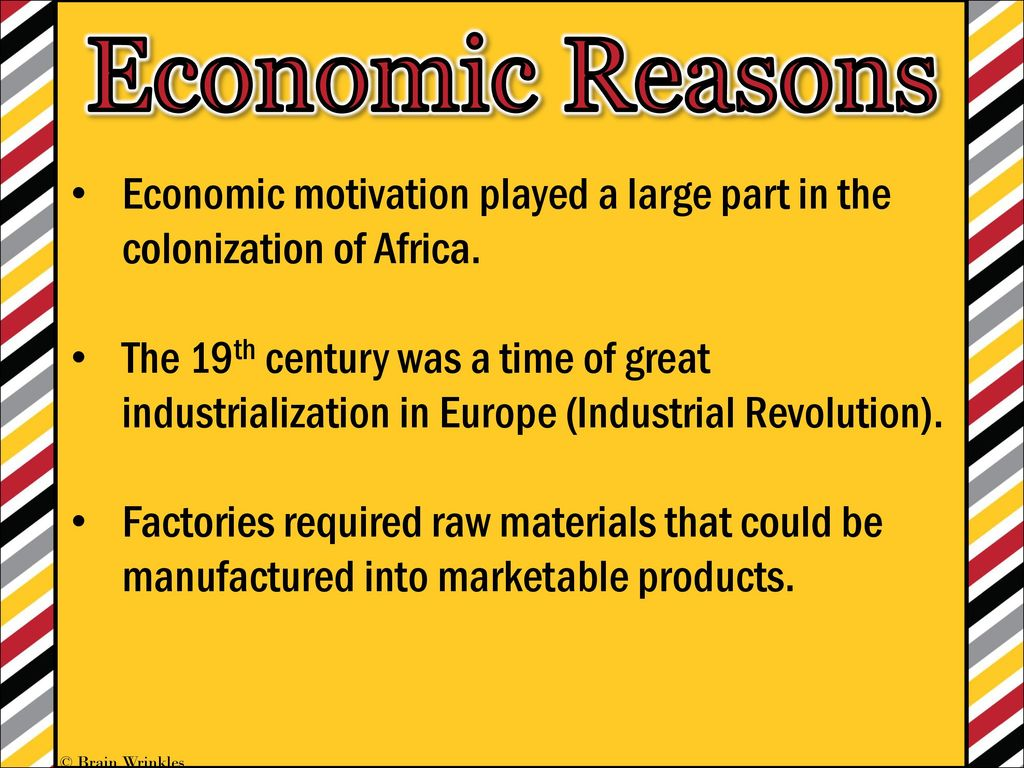 economic reasons for colonization of africa