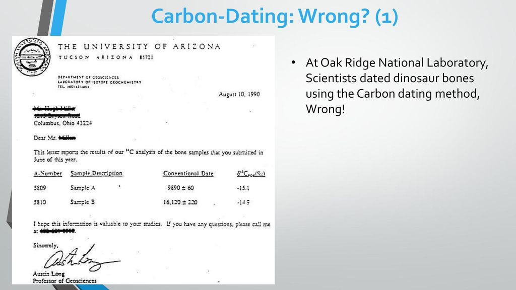 Carbon dating Gone Wrong