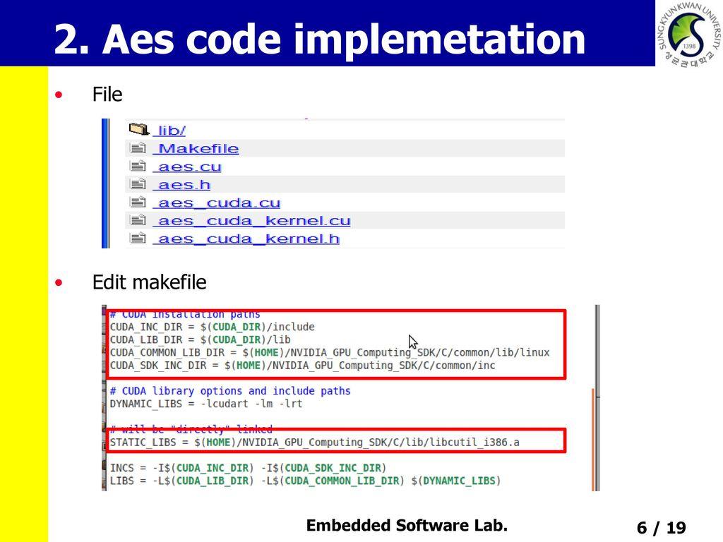 AES on GPU using CUDA Choi dae soon  - ppt download