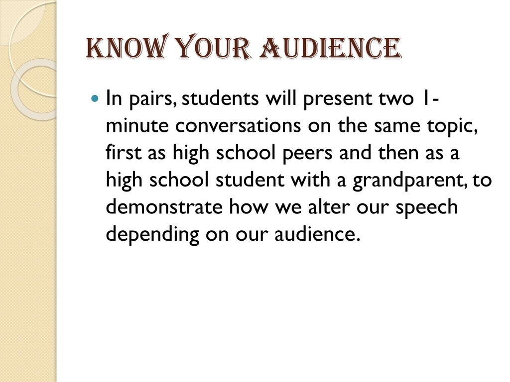 Introduction to public speaking - ppt download
