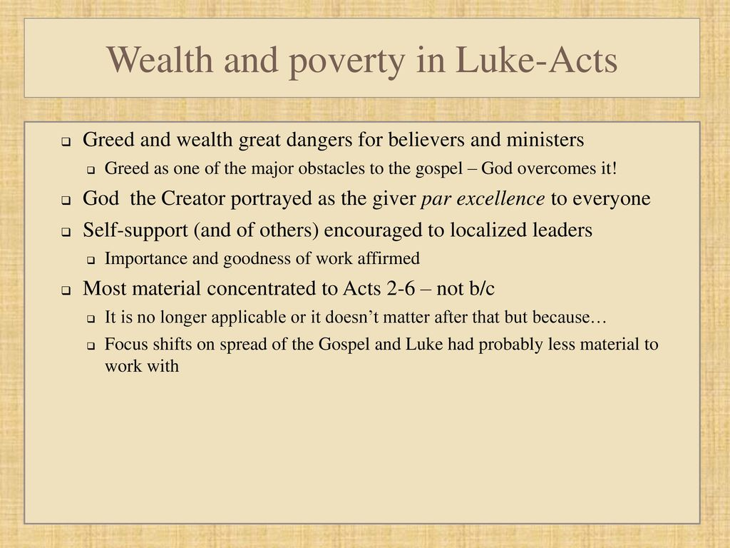 Greed breeds poverty, or from success to poverty through greed