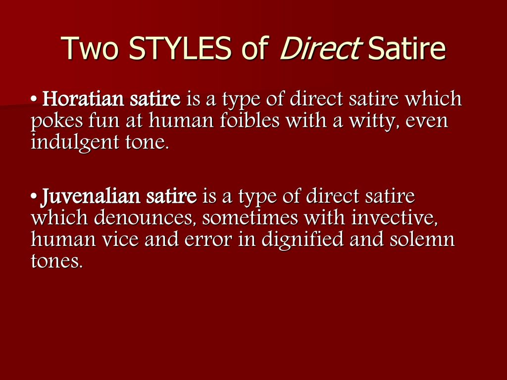 The Difference Between Satire And Sarcasm Ppt Download