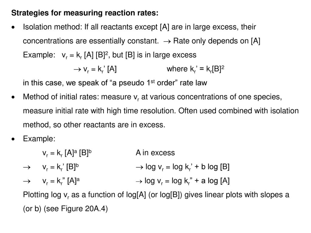 Strategies for measuring reaction rates: