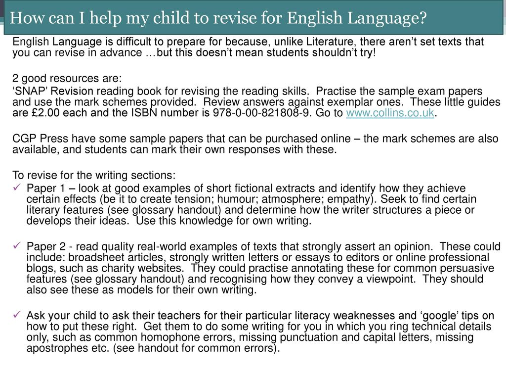 English Language Paper 2 Example Answers - Floss Papers