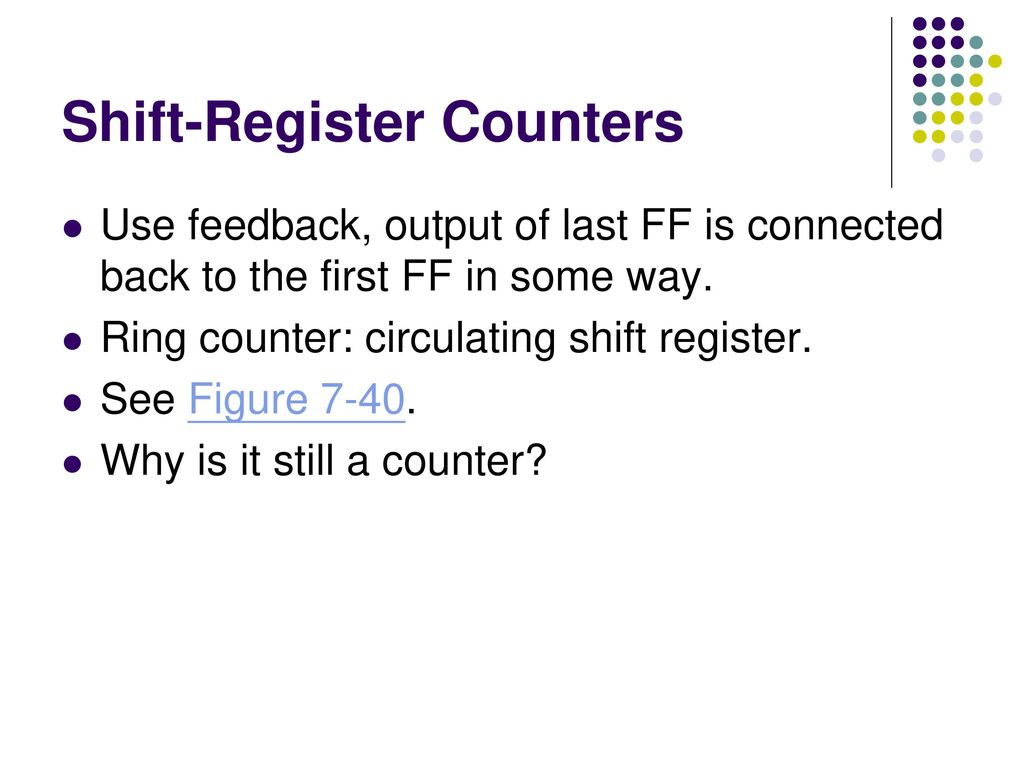 Counters And Registers Ppt Download Shift 74ls164 15 Register