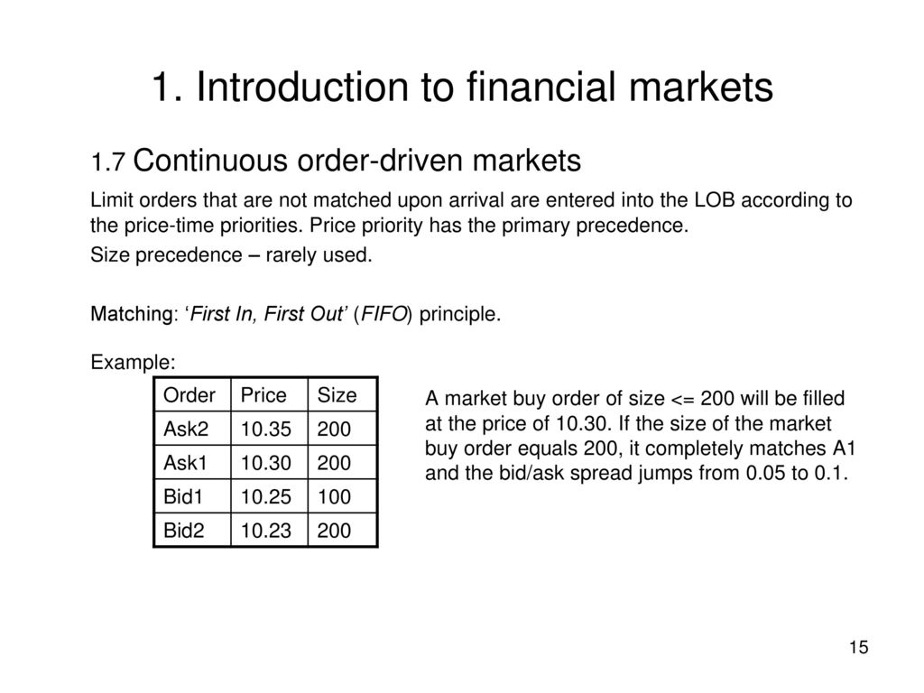 1  Introduction to financial markets - ppt download