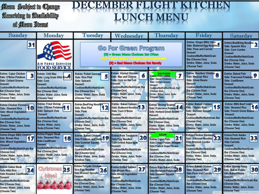 DECEMBER Flight Kitchen - ppt download